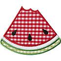 Watermelon Bite Slice Applique Design