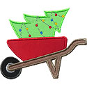 Wheelbarrow Tree Applique Design
