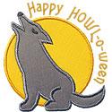 Wolf Howl Halloween Applique Design