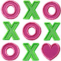XO Kisses Hugs Applique Design