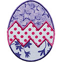 Zigzag Easter Egg Applique Design