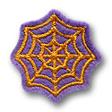 Spiderweb Feltie Applique Design