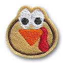 Turkey Head Feltie Applique Design