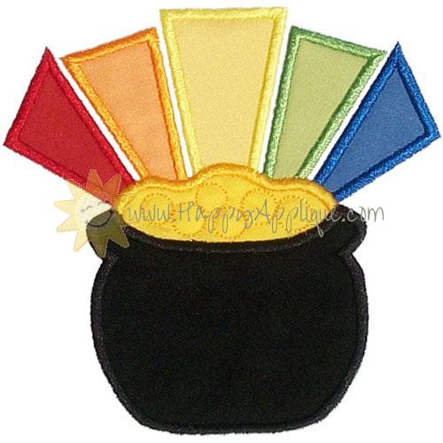 Pot of Gold Applique Design