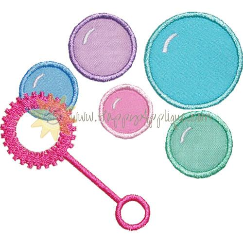 Bubble Wand Applique Design