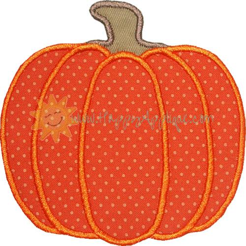 Harvest Pumpkin Applique Design