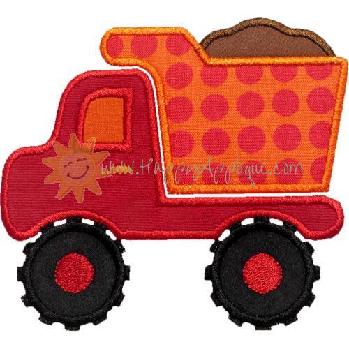Dump truck applique design for Truck design app