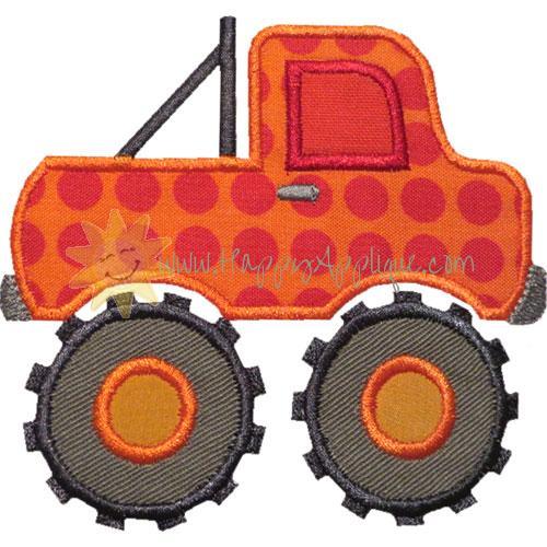 Monster truck applique design for Truck design app