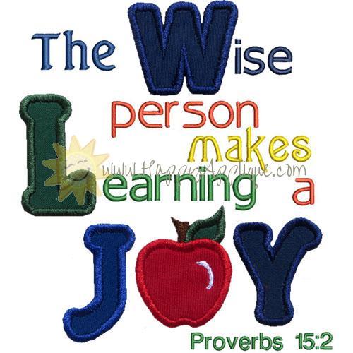 Proverbs15 Applique Design