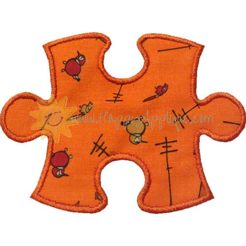 Puzzle Piece Applique Design