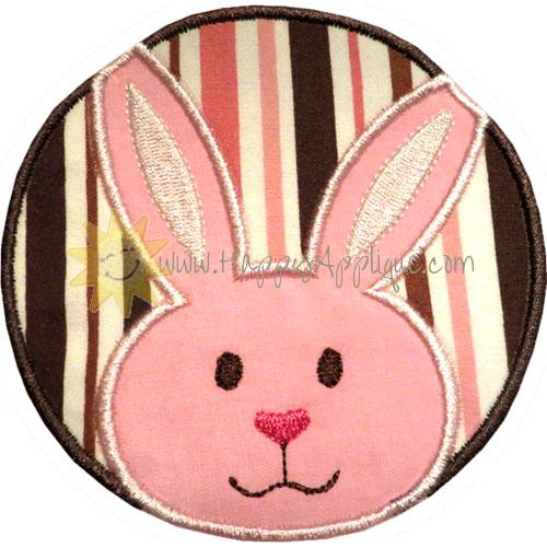 Rabbit Circle Patch Applique Design