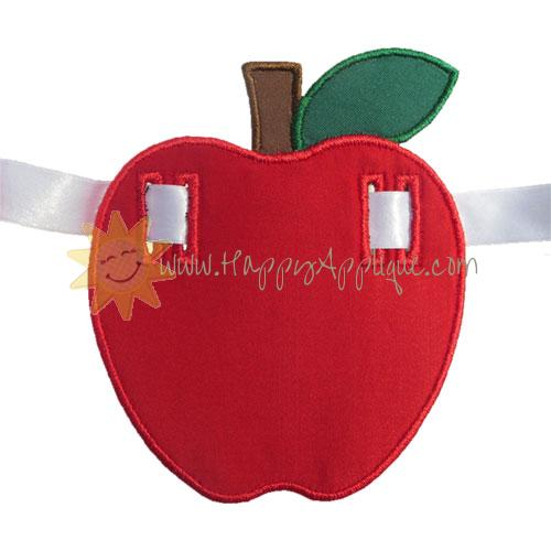 Apple Banner Piece Applique Design