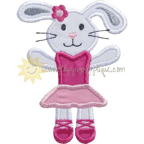 Ballerina Bunny Applique Design