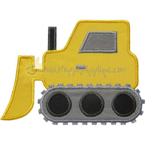 Bulldozer Tractor Applique Design