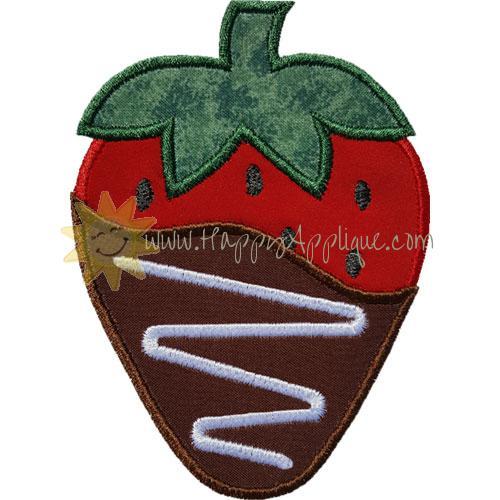 Chocolate Strawberry Applique Design