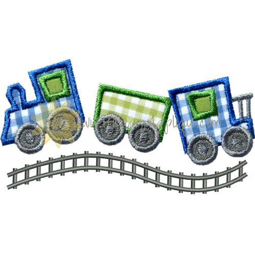 Curvy Train Tracks Applique Design