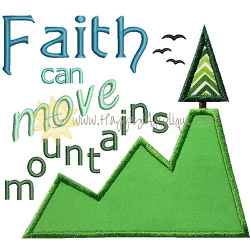 Faith Move Mountains Applique Design