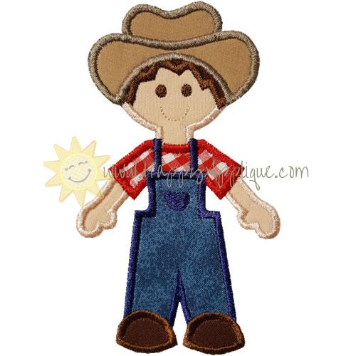 Farmer Boy Applique Design