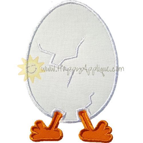 Hatching Egg Applique Design