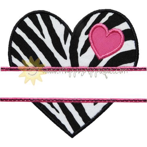 Heart Name Plate Applique Design