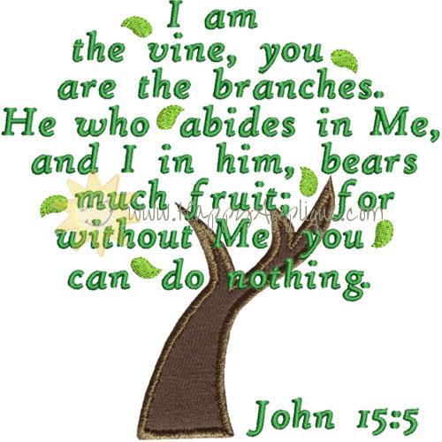 John 15 Vine Branches Applique Design