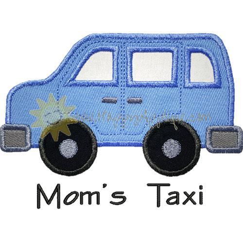 Moms Taxi Minivan Applique Design