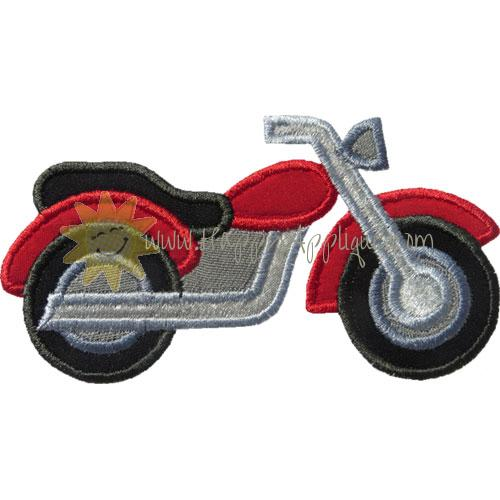 Motorcycle Applique Design