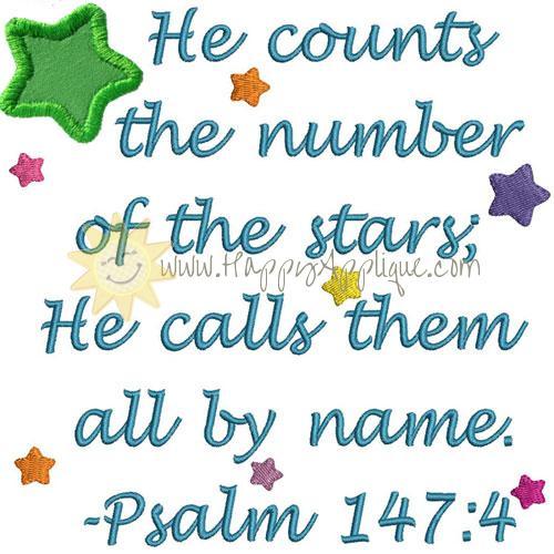 Psalm Stars Applique Design
