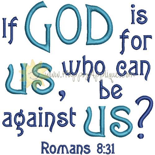 Romans 8 Verse Applique Design