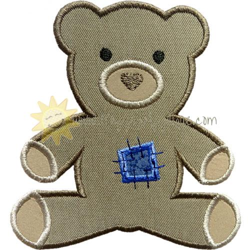 Stuffed Bear Patch Applique Design
