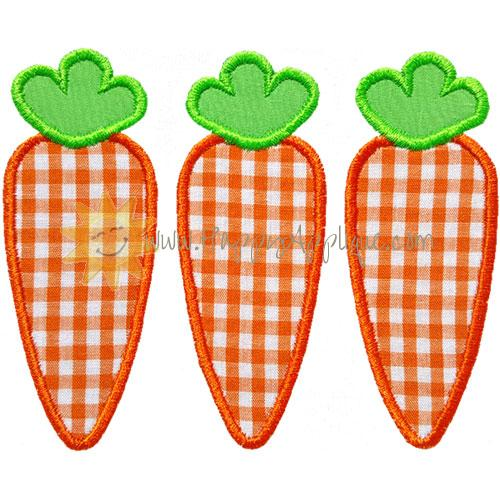 Three Carrots Applique Design