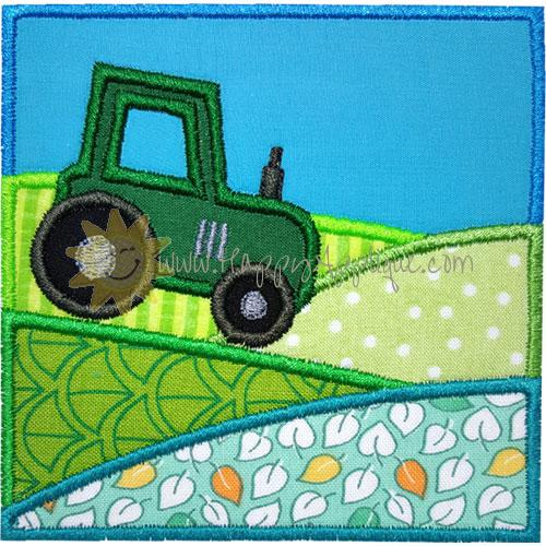 Tractor Fields Applique Design