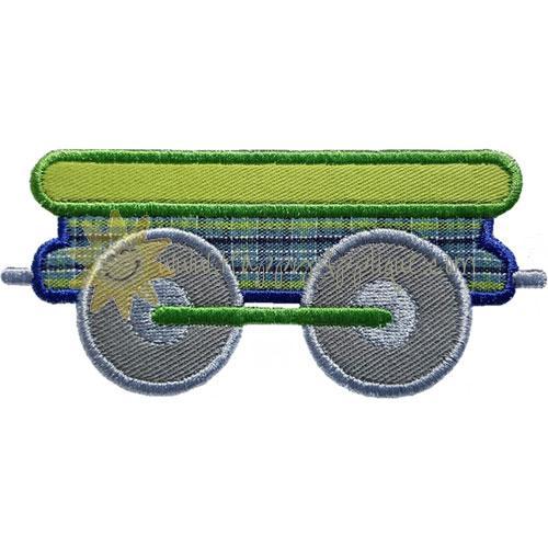 Train Flatcar Applique Design