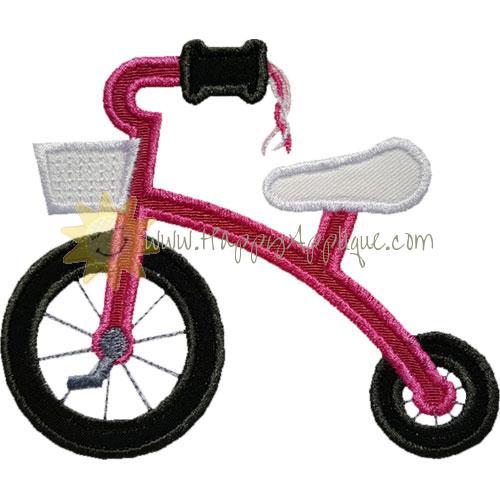 Tricycle Tassels Applique Design