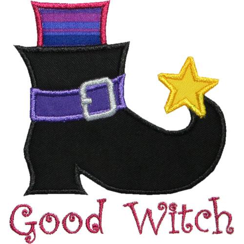 Witch Boot Applique Design